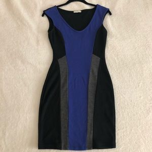 body con dress with V neck